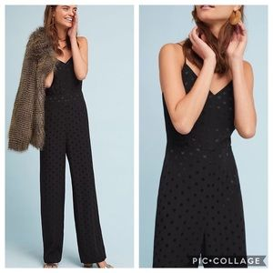 Anthropologie Essential Polka Dot Jumpsuit